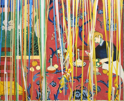 Laurence Aëgerter, GE 9660-100907-233355 (Matisse red room/curtain), 2011, 150 x 185 cm